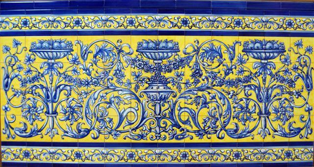 Cer mica art stica sevillana antonio gonzalez - Zocalos de azulejos ...