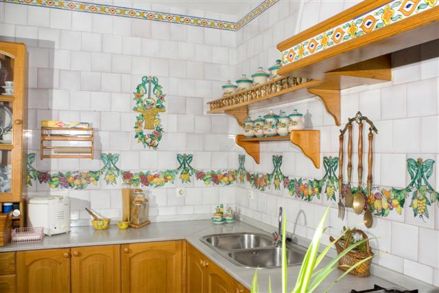 Cer mica art stica sevillana antonio gonzalez for Cenefas de vinilo para cocinas